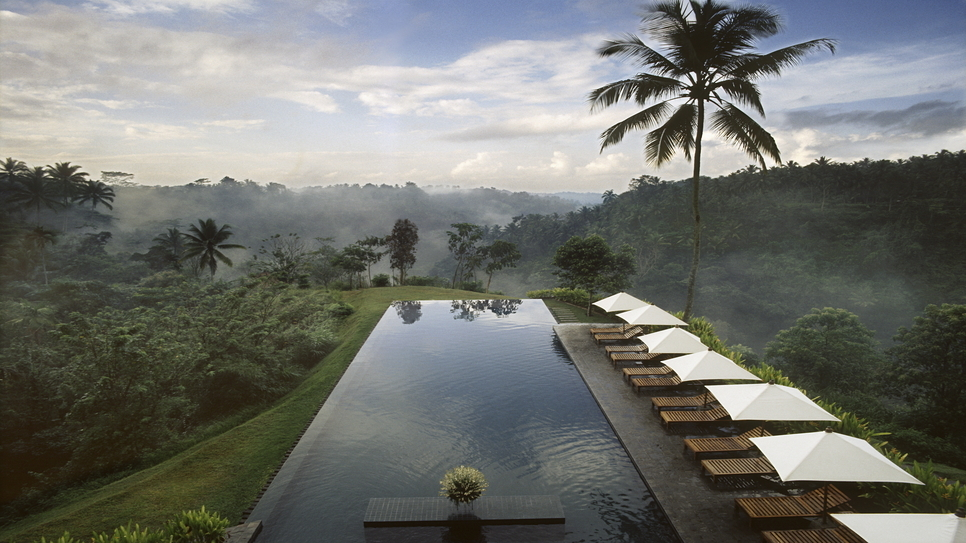 Pool of Alila Hotel Ubud, formerly The Chedi, Ubud, Bali, Indonesia, Southeast Asia, Asia
